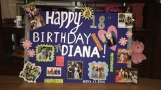 A Cute 18th birthday poster for your best friend !
