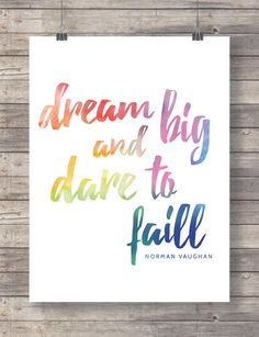Dream Typography print Typography Art Motivational Print Motivational Wall Art, Motivational Gift for him, Download Print, Printable by TinyBirdsMM on Etsy