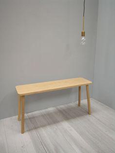 american oak stool 900x240x450 finished in a natural clear matt oilwalnut supplied oil finish