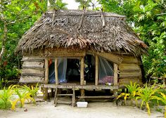 A picture of a Samoan Fale, where we got to sleep in Samoa.