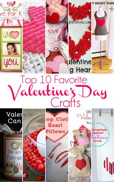 Top 10 Favorite Easy Valentine's Day Crafts (+ big announcement about tomorrow's Inspiration Monday Party)... I'm featuring my favorite Easy Valentine's Day crafts today.  Be sure to check them out!