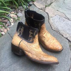 Custom jadaandjon snake skin ankle cowboy boots by jadaandjon on Etsy https://www.etsy.com/listing/239474473/custom-jadaandjon-snake-skin-ankle