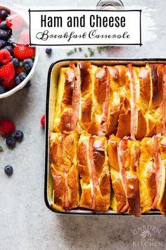 Smoked Salmon Breakfast, Ham Breakfast, Best Breakfast Casserole, Breakfast Recipes, Snack Recipes, Cooking Recipes, Savoury Recipes, Breakfast Ideas, Ham And Cheese