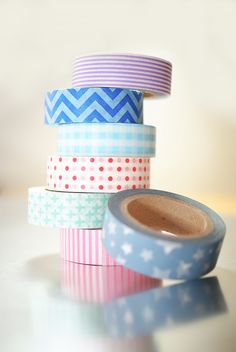 We now have more than 20 styles of washi tape in stock! $4.50 each.