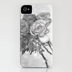Roses in Black and White iPhone Case by F Photography and Digital Art - $35.00
