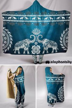 Snuggle up in style with our new premium quality hooded blankets! Elephant Love, Elephant Stuff, Elephant Table, Elephant Mugs, Elephants Never Forget, Hooded Blanket, Weighted Blanket, Sewing For Beginners, Fleece Fabric