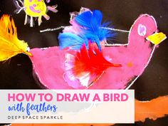 What could be more fun than paint and feathers? For Kinders, nothing…except maybe spatter painting!This lesson involves three steps: A directed line drawing for the bird, painting and then adding the feathers. All you need isa light color oil pastel (if using black paper or a dark color oil pastel if using a light paper),... View Article