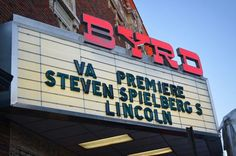 "The Virginia Premire of Steven Spielberg's film ""Lincoln"" at The Byrd Theater in Carytown. Richmond, Va."