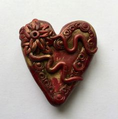Pocket Secret Heart by NeeNeeRee on Etsy