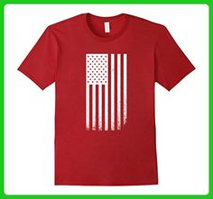 Mens United States of American Distressed Flag T-shirt XL Cranberry - Cities countries flags shirts (*Amazon Partner-Link)