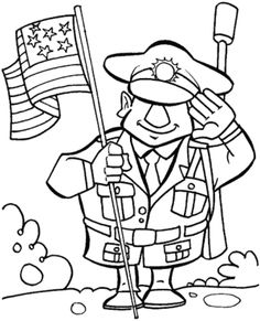 Remembrance Day or Veteran's Day Coloring Page