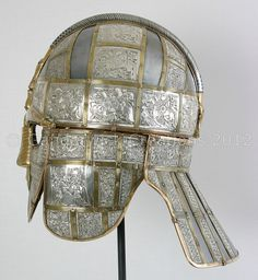 Side view of the early medieval ceremonial helmet from Sutton Hoo. Anglo Saxon History, Ancient History, European History, Art History, American History, Ancient Egyptian Art, Ancient Aliens, Ancient Greece, Viking Jewelry