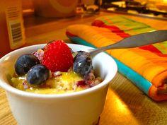 Very berry custard pudding!