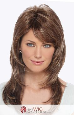The Dixie wig offers lovely long layers that beautifully frame your face. With lustrous locks that fall down past your shoulders, you'll find that this is a wig that offers just as much chic elegance