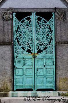 Beautiful turquoise door Door Love!