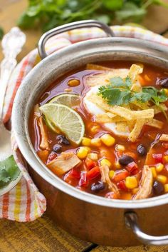 Quick and Easy Chicken Taco Soup Recipe!