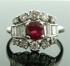 Vintage Ruby and Diamond Ring by SITFineJewelry on Etsy