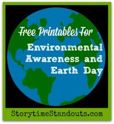 Free environmental theme printables including dominos, riddles, writing paper.  Perfect for Earth Day.