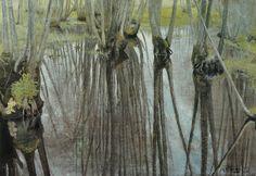 Laurits Andersen Ring (Dan. 1854-1933), Trunks of alders,1893, oil on canvas, 52.9 × 73.5 cm, Collection of Her Majesty the Queen Margrethe II, Copenhagen, Denmark