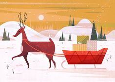 Winter Illustration by Morgan Ramberg - http://www.designideas.pics/winter-illustration-by-morgan-ramberg/