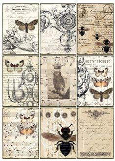vintage decoupage 39 little bi Éphémères Vintage, Images Vintage, Vintage Labels, Vintage Ephemera, Vintage Paper, Decoupage Vintage, Vintage Ideas, Collage Vintage, Vintage Music