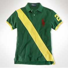 Polo ralph lauren classic-fit player polo green yellow red,polo ralph 26b8d3934e44