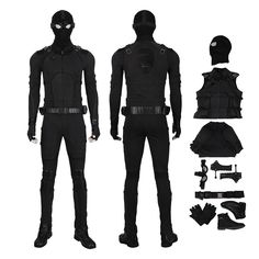Spider Man Stealth Suit Costume Spider-Man: Far From Home Cosplay Costume - Personliche Betreuung Cosplay Costumes For Men, Cosplay Armor, Male Cosplay, Movie Costumes, Spiderman Suits, Spiderman Costume, Avatar Babies, Deadpool Pikachu, Stealth Suit