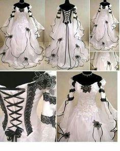 Beautiful black/white wedding dress