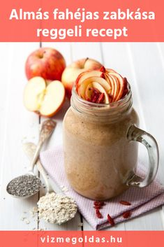 Apple and oat smoothie recipe - super quick breakfast smoothie. Blend apple oats banana cinnamon goji berries chia seeds milk into a creamy smoothie. Smoothies Vegan, Smoothie Recipes With Yogurt, Smoothie Recipes For Kids, Oat Smoothie, Protein Smoothie Recipes, Breakfast Smoothie Recipes, Apple Smoothies, Smoothie Detox, Paleo Breakfast
