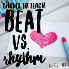 "Beat vs. Rhythm: A collection of chants for the Kodaly inspired classroom.  Great for -Prepare/ practice/ assess steady beat -Prepare rhythm as ""the way the words go"" with icons -Practice ""the way the words go"" -Practice ta/titi -Comparatives: fast/slow, loud/soft, high/low Chants included : ""Bee Bee Bumblebee,"", ""Engine, Engine Number 9"", ""Cinderella at the Ball"", ""Queen Queen Caroline"" and ""I Climbed up the Apprile Tree""."