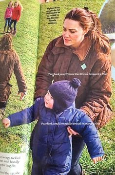 April 2015: the Duchess of Cambridge with Prince George in the park.