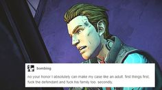 Rhys + text posts: part 6 part 1 / part 2 / part 3 / part 4 / part 5 Others: Angel / Handsome Jack / Athena