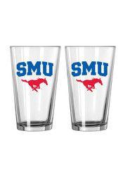 SMU Mustangs 16 oz Pint Glass