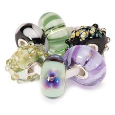 """Tuscany Kit - """"Dusty green and purple shades. Cypresses and wine castles in the shimmering heat. You can almost smell the Italian spices in this kit. And there is a heart for romance as well; we are in Italy, after all."""" #trollbeads"""