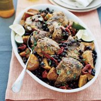Slow cooker Latin Chicken with Black Beans and Sweet Potatoes