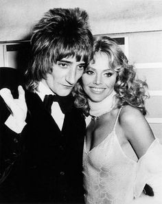 1975: Rod Stewart and Britt Ekland
