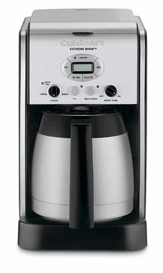 Cuisinart Extreme Brew 10 Cup Thermal Programmable Coffeemaker Certified Refurbished Stainless Steel -- You can find more details by visiting the image link. Dual Coffee Maker, Coffee Maker Machine, Espresso Machine, Coffee Machines, Charcoal Water Filter, Coffee Accessories, Cafetiere, Fresh Coffee, Black Stainless Steel