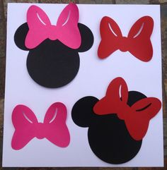 Minnie Mouse Head Silhouettes Black Cutouts by LuluBellaCreations