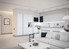 white apartment ideas                                                                                                                                                                                 More