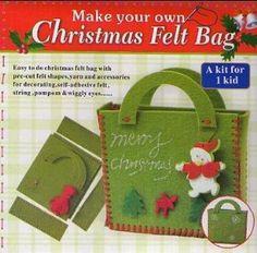 christmas felt bags - Google Search