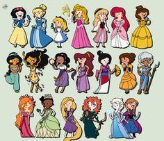 Disney princesses meets adventure time