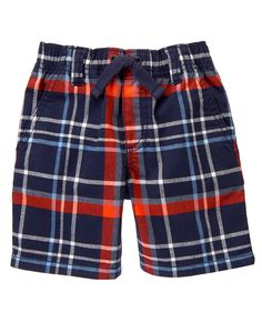 Pull-On Plaid Shorts at Gymboree Collection Name: Fresh Catch (2015)