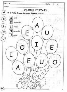 Atendendo ao pedido da Professora Ione Silva  e agradecendo o seu e-mail carinhoso.   São 150 diferentes atividades com vogais  para quem ...
