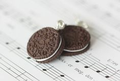 Oreo Cookies Earrings by petitcafe on Etsy Handmade Jewelry, Unique Jewelry, Handmade Gifts, Oreo Cookies, Stud Earrings, Shops, Jewellery, Etsy, Kid Craft Gifts