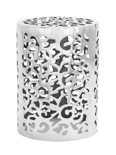 Amazon.com - Deco 79 Aluminum Stool, 18 by 13-Inch - Barstools