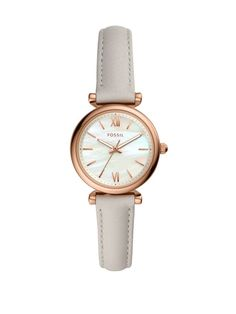 New Fossil Mini Carlie Star Leather Strap Watch, Womens Fashion Jewelry. offers on top store Designer Backpack Purse, Fossil Watches, Green Leather, Smartwatch, Women's Accessories, Women Jewelry, Fashion Jewelry, Mini, Star