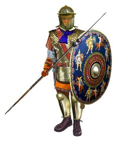 Римская армия Принципат - легионер Севера III в. н.э. Max58. Roman Shield, Roman Armor, Imperial Legion, Old Warrior, Roman Helmet, Pax Romana, Roman Warriors, Roman Legion, Roman Soldiers