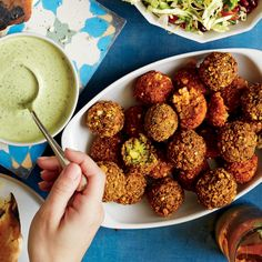 Red Pepper Falafel Like it hot? Sub a Fresno chile for the red bell pepper for some extra kick.