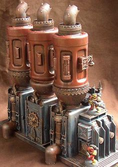 Promethium Plant Model. Warhammer is so good inspiration for Steampunkish style!