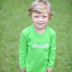 8/15/2013  Boys Green Long Sleeve Shirt